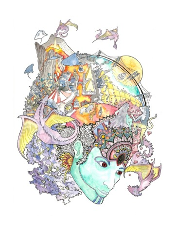 A study of the landscape of the mind as a carnivalesque and dreamlike sequence.