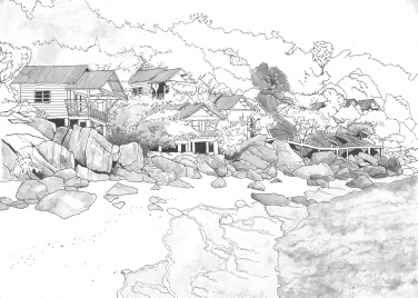 Sketchbook study of Thai Beach - 2016